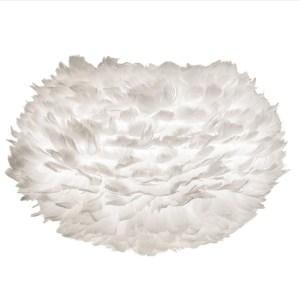 Eos Fjäderlampa, medium white Ø 45 x 30 cm