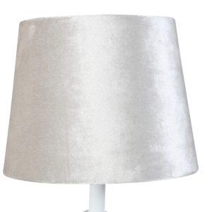 Lampskärm sammet rund 18x23x18cm beige
