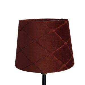 Lampskärm sammetX rund 16x20x15cm vinröd