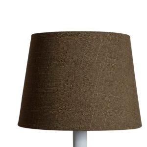 Lampskärm linne rund 16x20x15cm brun