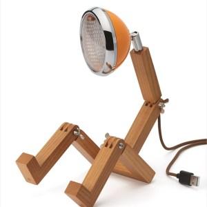 Mini Mr Wattson Bordslampa Ash – Mclaren Orange
