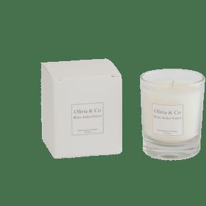 Doftljus Olivia & Co – White Amber Vetiver