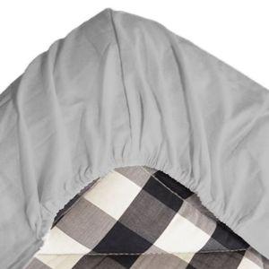 Dra-på-lakan 90x200cm grå