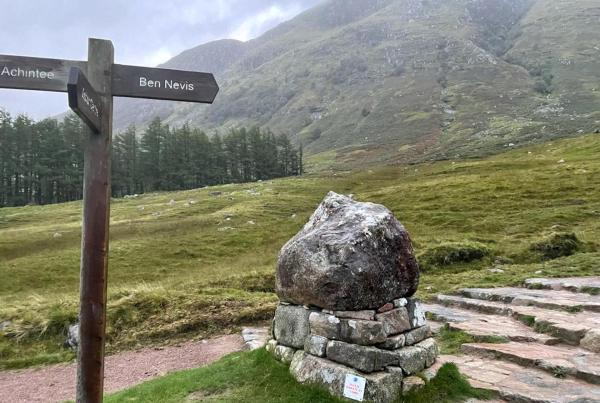 Bev Nevis not an easy task to climb up and down Great team achievement despite the challenging weather conditions 6hrs 15mins Such a worthwhile cause as Every penny counts for sue Ryder Manorlands Hospice So please friends dig deep as any donations are appreciated Thanks🙏