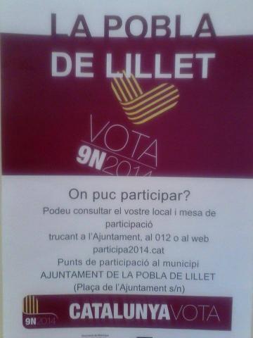 20141109 9N votar La Pobla de Lillet 001