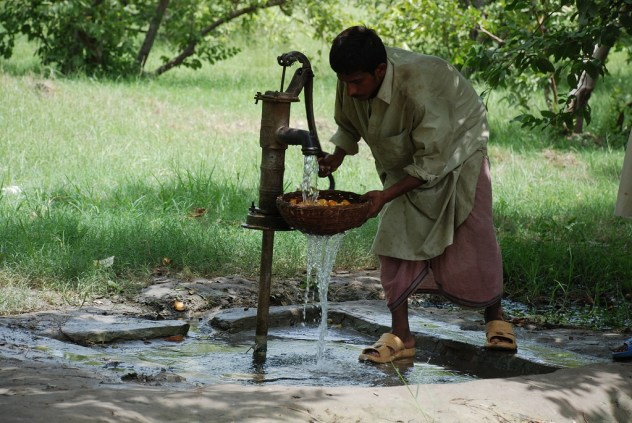 Much of the world sources their water from a hand pump.