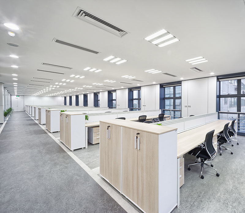 Large office clean