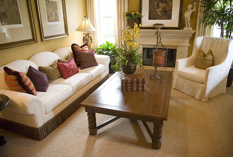 Home carpet and upholstery cleaning