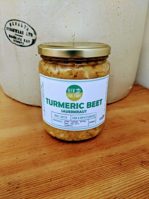 Turmeric Beet Sauerkraut by Seed to Culture