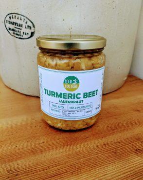 Turmeric Golden Beet Sauerkraut