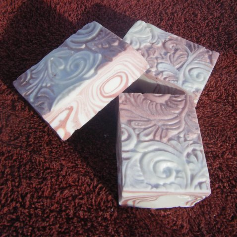13th Fairy Soapcraft Pink Candy Stripes bar soap