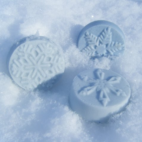 13th Fairy Soapcraft Peppermint Snowflake guest soap