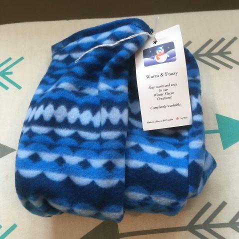 Fleece Slipper Socks - Blue Multi