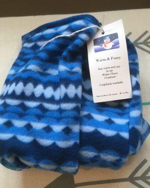 Fleece Slipper Socks – Blue Multi