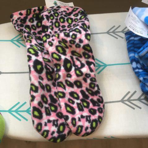 Fleece Slipper Socks - Leopard Print