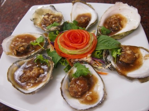 Thai style oysters