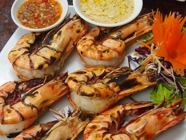 BBQ prawns Lillo Island restaurant Kamala Beach