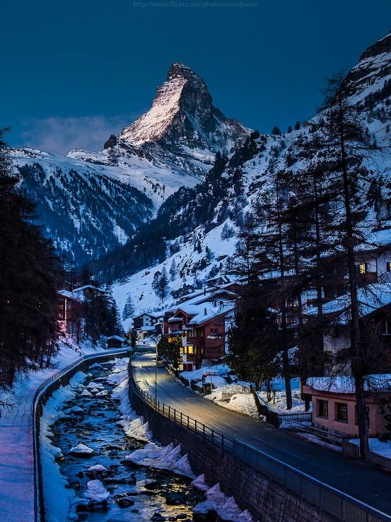 Winters Night, Switzerland