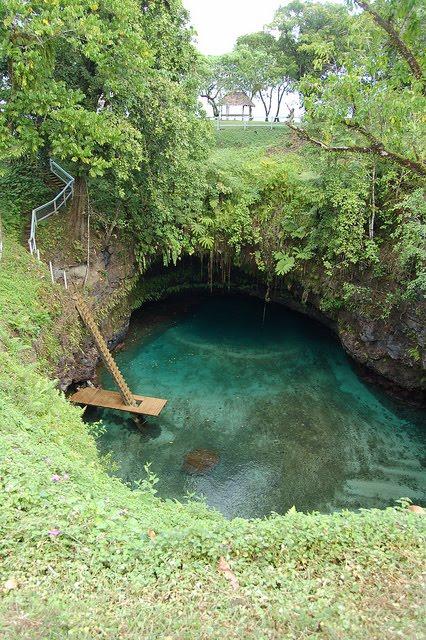 Natural Swimming Pool, To-Sua Trench, Samoa