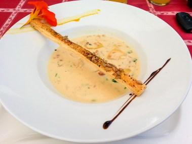 Lunch auf der Burg Güssing, Südburgenland