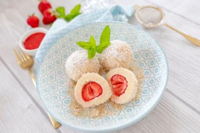 Erdbeer-Topfenknödel