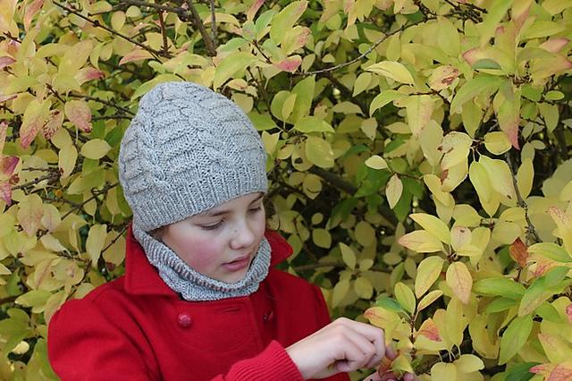 Modele de tricot de bonnet et col