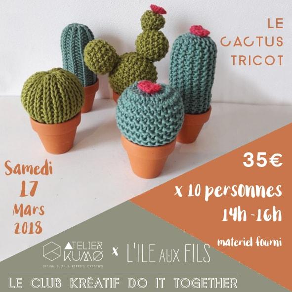 Atelier – Tricoter un cactus