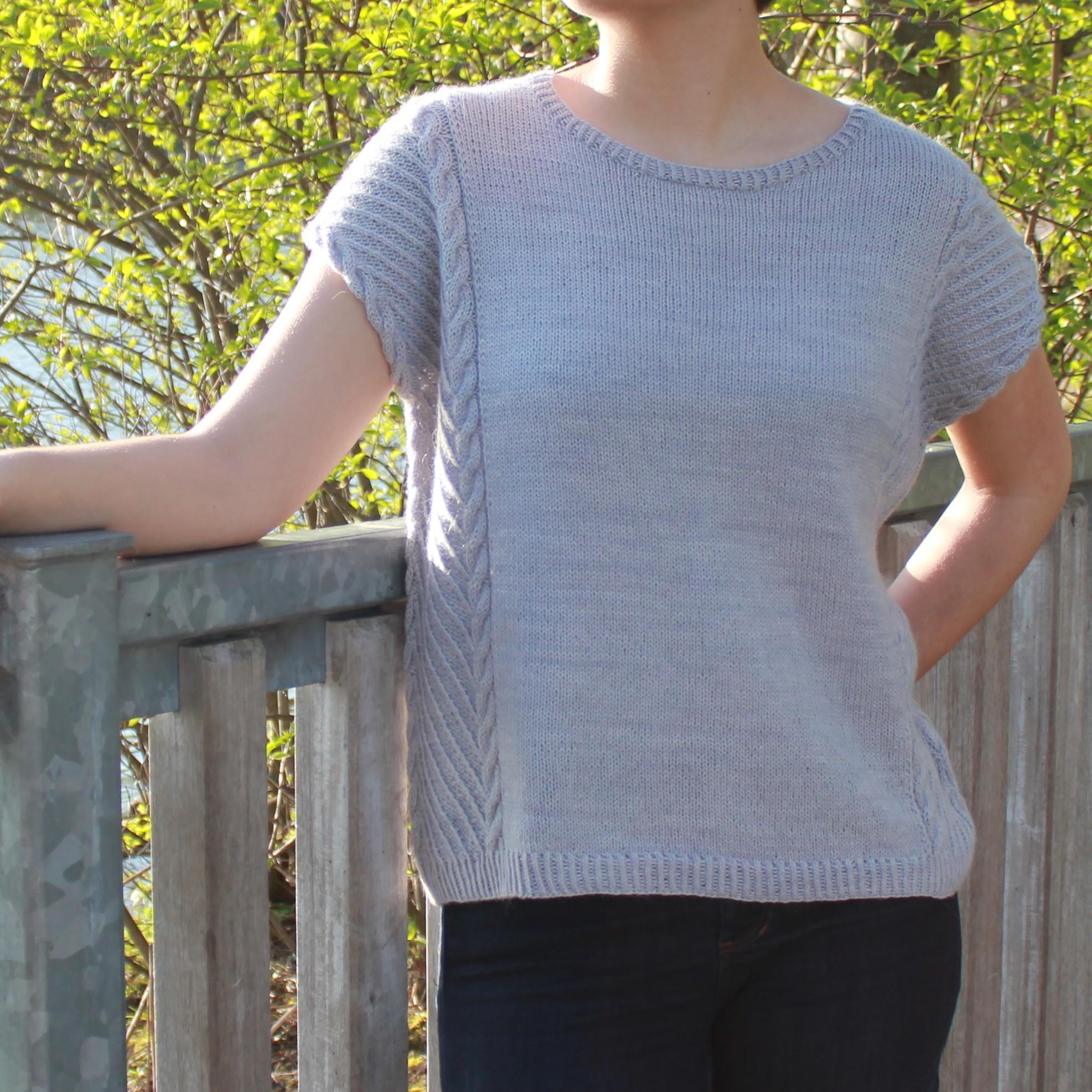Modèle de tricot de pull