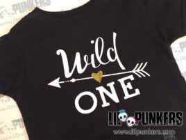 wild one gold sparkle hipster arrow birthday shirt black