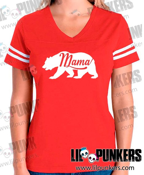 mama-bear-red-girls-football-shirt
