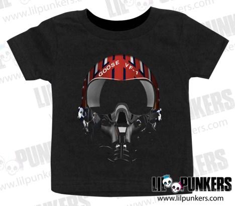 top-gun-goose-helmet-black-baby-shirt