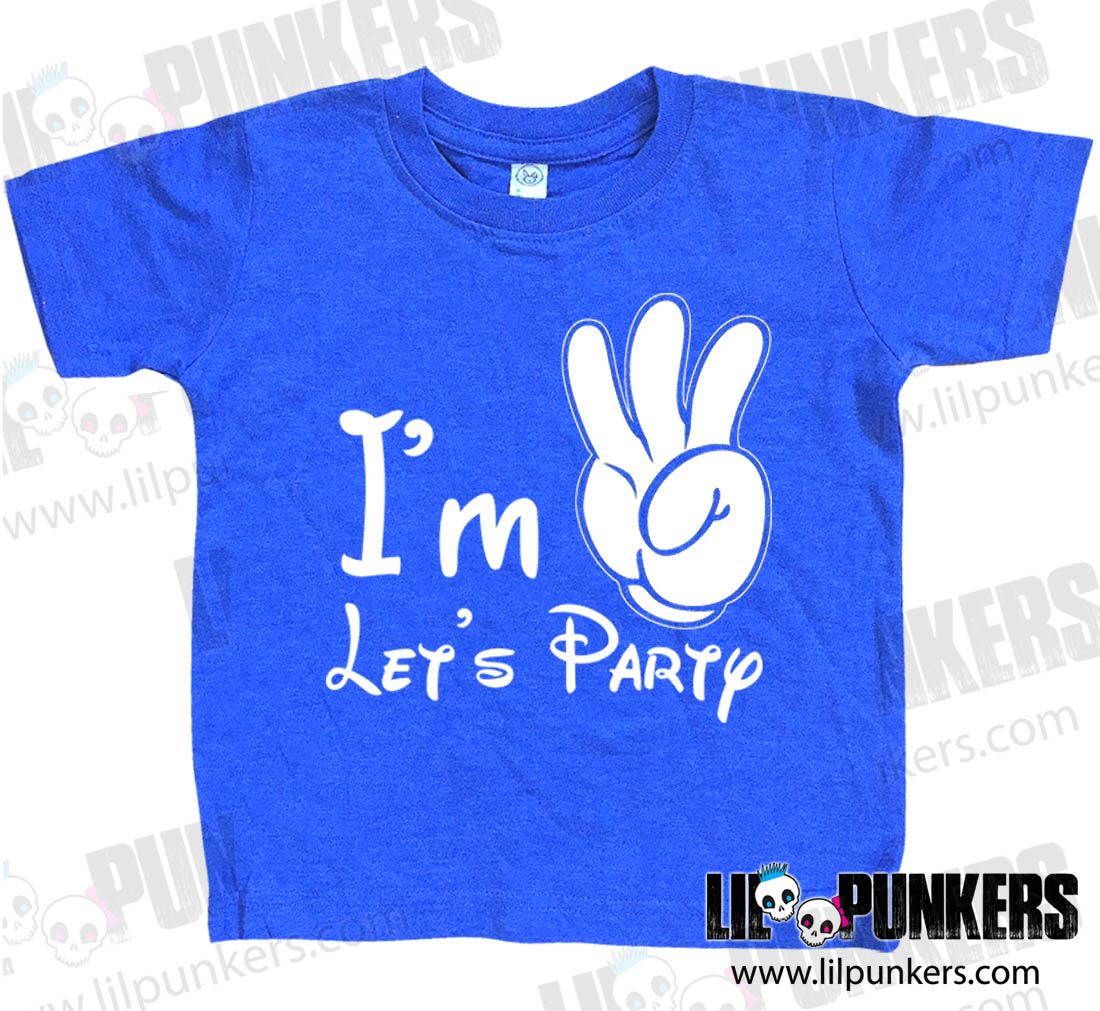 e660125f Buy the I'm 3 Let's Party Mickey Mouse Hand Vintage Heather 3rd Birthday