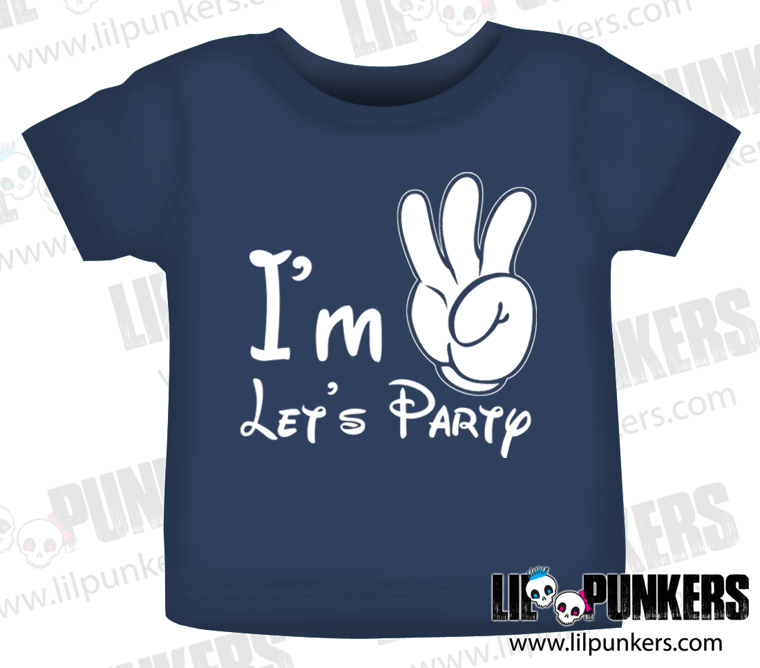 Im 3 Lets Party Mouse Hands 3rd Birthday Shirt
