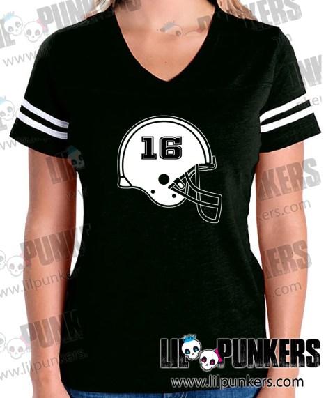 football-helmet-birthday-black-girls-football-shirt