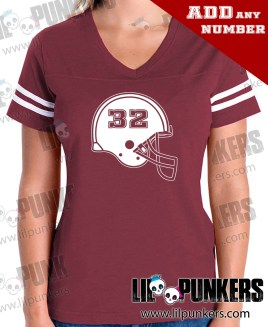 football-helmet-birthday-burgandy-girls-football-shirt