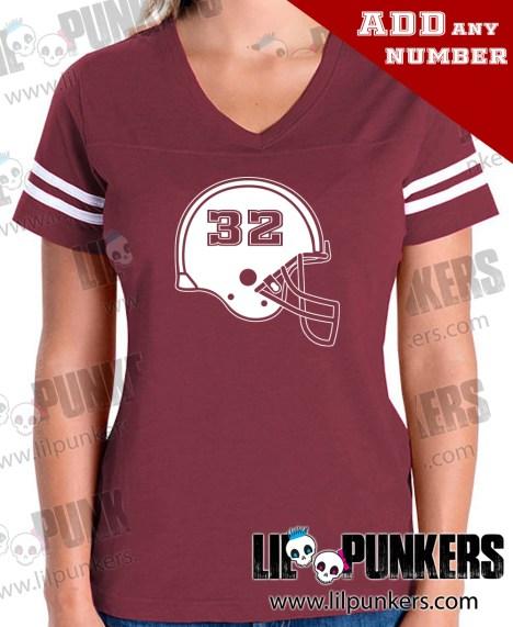football-helmet-birthday-burgandy-girls-football-shirt
