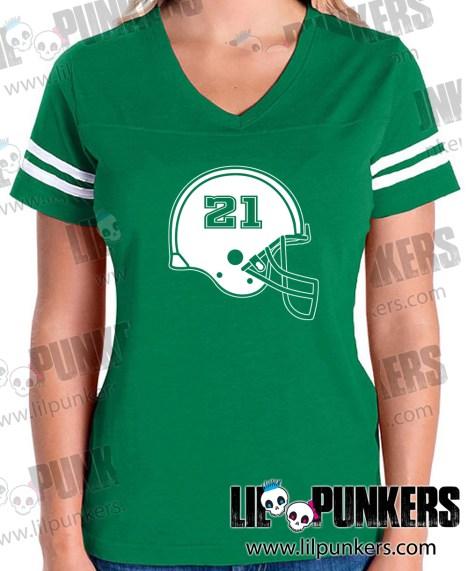 football-helmet-birthday-green-girls-football-shirt