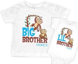 """54bf225b1 Matching """"Lil Monkeys"""" Boys T-shirt"""