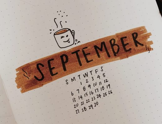September 2020 Bullet Journal Setup