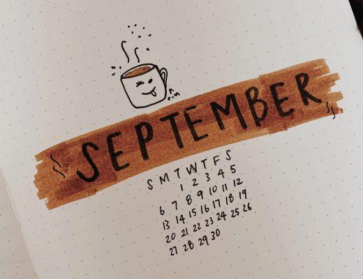 September 2020 Bullet Journal Setup