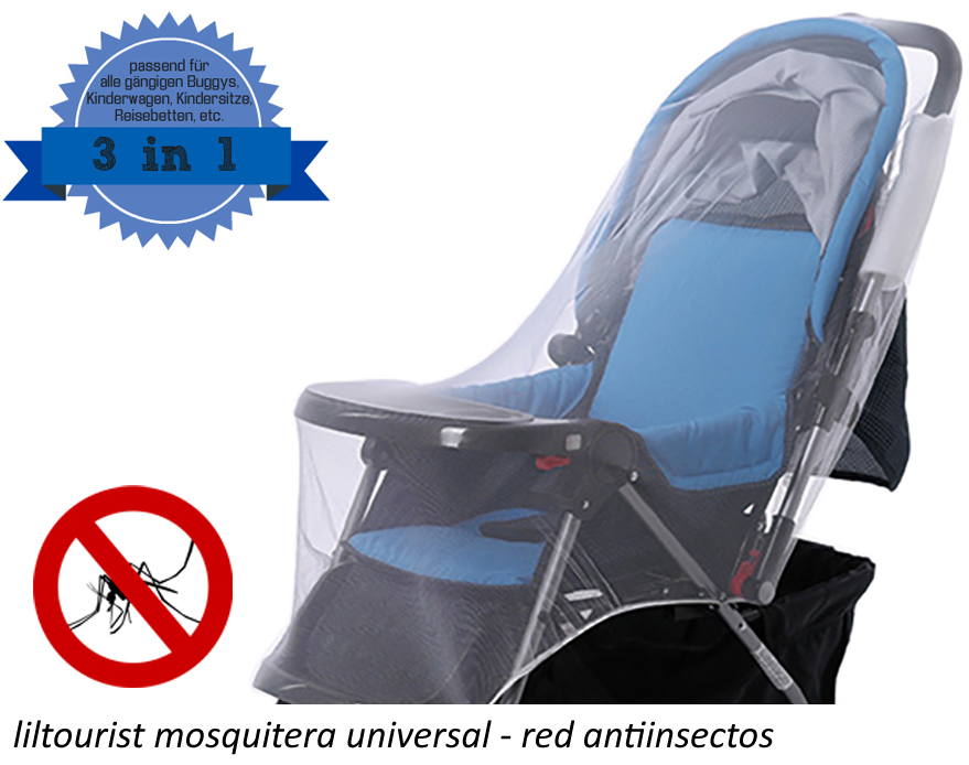 liltourist mosquitera universal - red antiinsectos