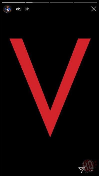 Odell Beckham Jr teasing the red 'V' on Instagram story. (Image Credits: Lilwaynefansite)
