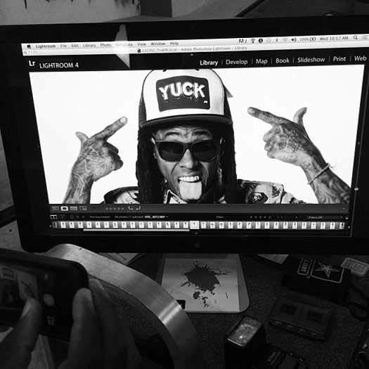 On Set Of Lil Wayne TRUKFIT Photo Shoot At Two Skateparks