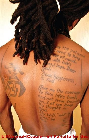 Lil Wayne Back Tattoo