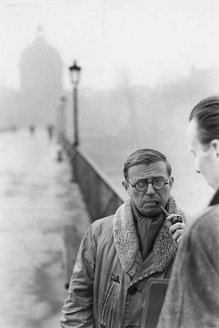 Jean-Paul Sartre and the Pont Des Arts