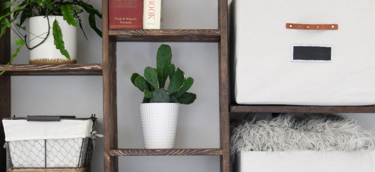 DIY built in Shelves (craft room makeover)