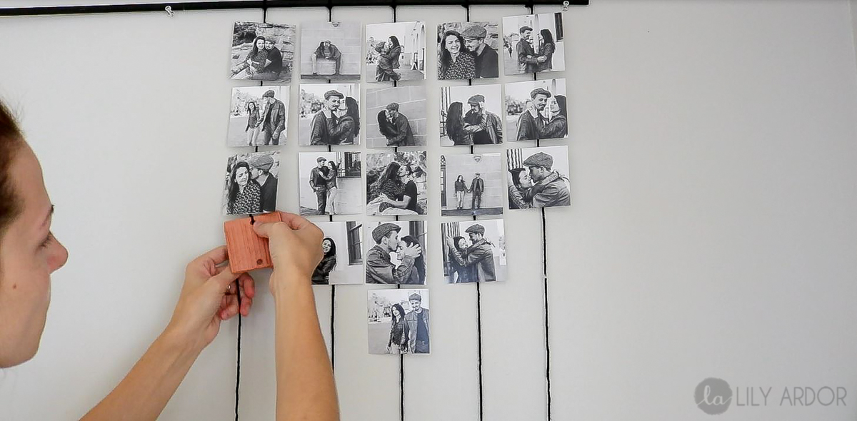 DIY Hanging Picture Display