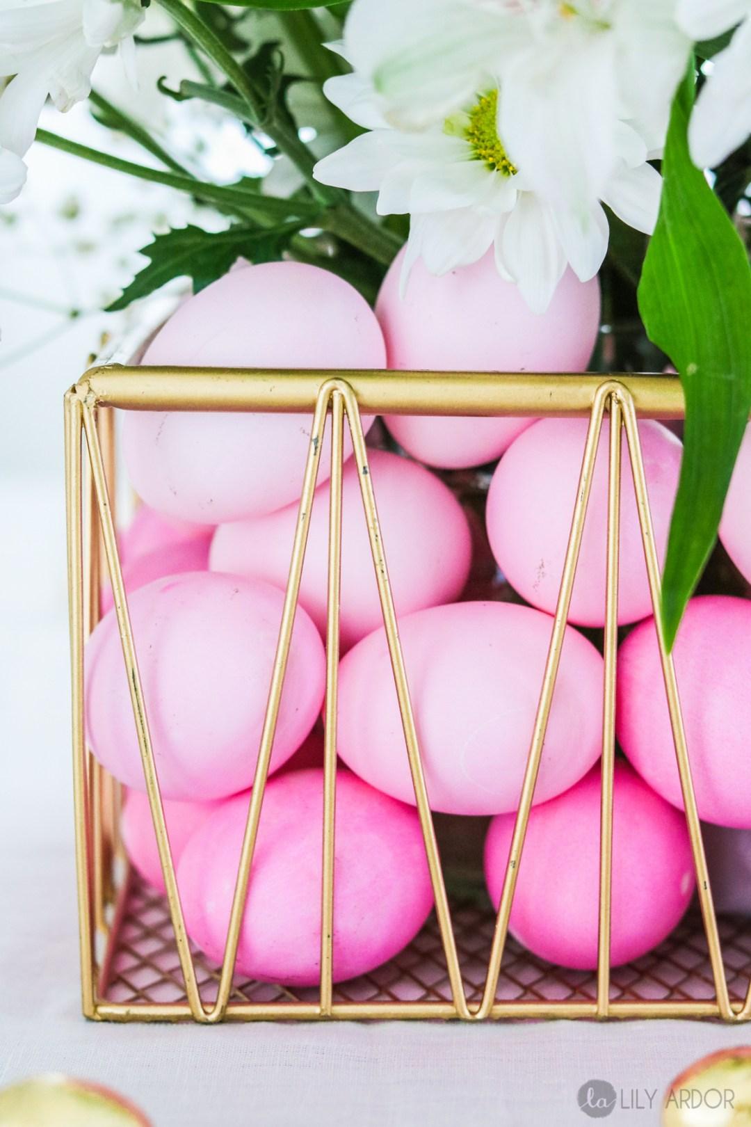 Ombre Easter Basket Centerpiece - Dying Eggs Ombre + CENTERPIECE
