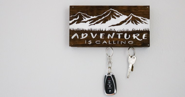 DIY Magnetic Key Holder