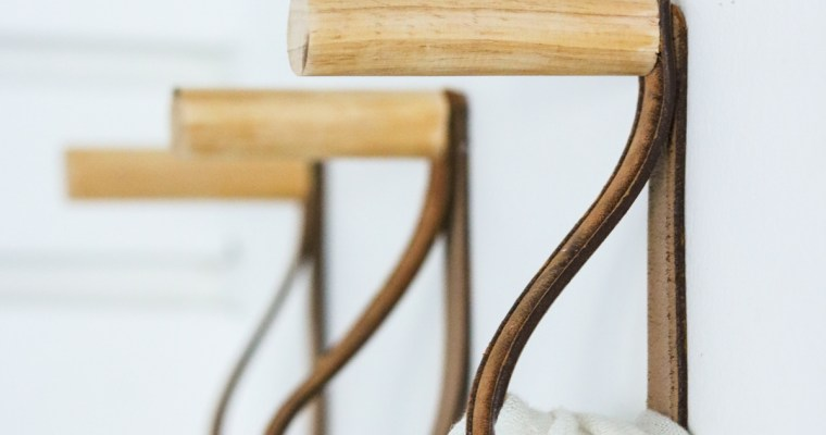 DIY Coat Rack – Hat rack – Wooden Hooks